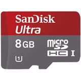 8 GB SanDisk Mobile Ultra microSDHC Class 10 Bulk inkl. Adapter auf SD