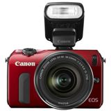 Canon EOS M Kit inklusive EF-M 18-55 mm f/3.5-5.6 IS STM + Speedlite 90EX rot