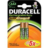 Duracell Stay Charged AAA / Micro Nickel-Metall-Hydrid 800 mAh 2er Pack