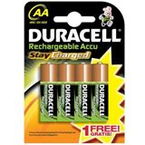 Duracell Stay Charged AA / Mignon Nickel-Metall-Hydrid 2000 mAh 4er Pack