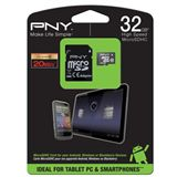 32 GB PNY High Speed microSDHC Class 10 Retail inkl. Adapter