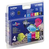 Brother Tinte LC1000 Value Pack LC1000VALBPRF schwarz, cyan, magenta, gelb