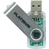8 GB Platinum Twister transparent USB 2.0