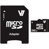 32 GB V7 microSDHC Class 10 Retail inkl. Adapter