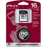 16 GB PNY High Performance SD16G10HIGPER80-EF SDHC Class 10 Retail