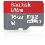 16 GB SanDisk Ultra 48MB/s microSDHC UHS-I Retail inkl. Adapter auf SD