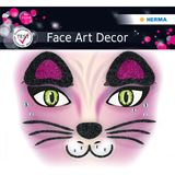 Herma Face Art Sticker Pink Cat