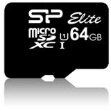 64 GB Silicon Power Elite microSDXC Class 10 U1 Retail inkl. Adapter auf SD