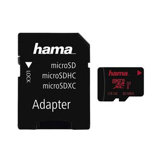 128 GB Hama Momory Pro 4K Mobile microSDXC UHS-I U3 Retail inkl.