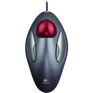 Logitech Marble Mouse USB silber