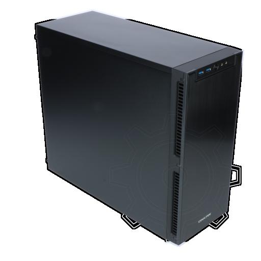 360 - Cooltek Antiphon Midi Tower ohne Netzteil schwarz