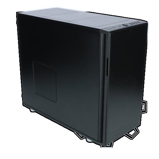 360 - Fractal Design Define R5 gedämmt Midi Tower ohne Netzteil schwarz