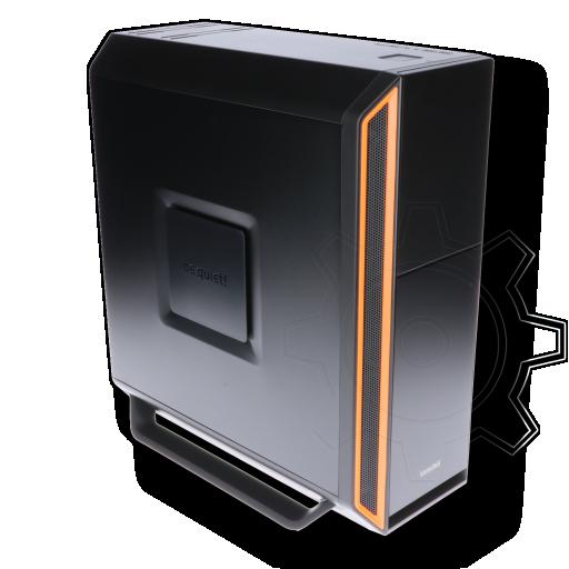 360 - be quiet! Silent Base 800 gedämmt Midi Tower ohne Netzteil orange