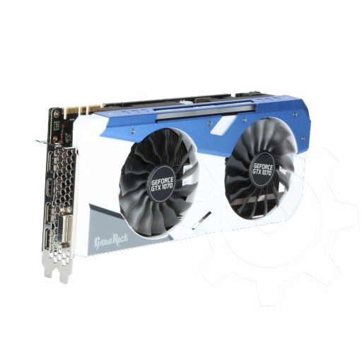 360 - 8GB Palit GeForce GTX 1070 GameRock Aktiv PCIe 3.0 x16 (Retail)