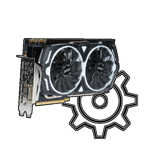 360 - 8GB MSI GeForce GTX 1080 Armor 8G OC Aktiv PCIe x16 (Retail)