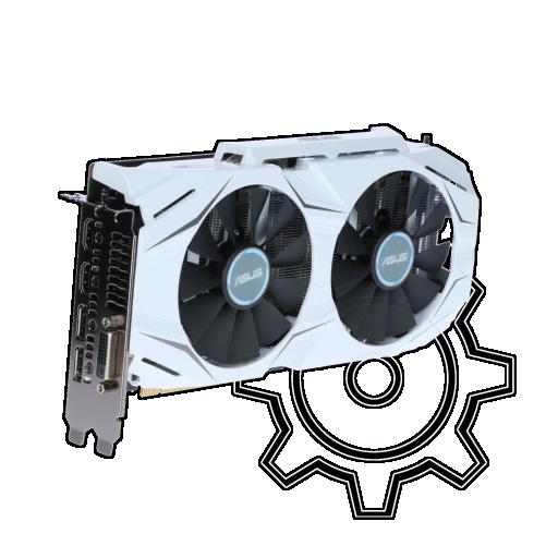 360 - 6GB Asus GeForce GTX 1060 Dual OC Aktiv PCIe 3.0 x16 (Retail)
