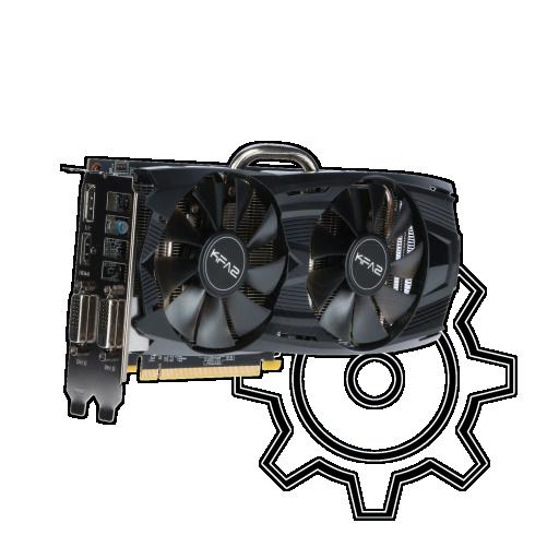 360 - 6GB KFA2 GeForce GTX 1060 EX OC Aktiv PCIe 3.0 x16 (Bulk)