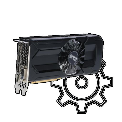 360 - 6GB Palit GeForce GTX 1060 StormX Aktiv PCIe 3.0 x16 (Retail)