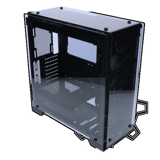 360 - Corsair Crystal 570X RGB mit Sichtfenster Midi Tower ohne Netzteil
