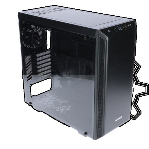 360 - be quiet! Pure Base 600 gedämmt mit Sichtfenster Midi Tower ohne