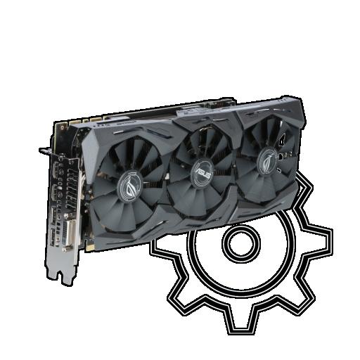 360 - 11GB Asus GeForce GTX 1080 Ti ROG Strix OC Aktiv PCIe 3.0 x16 (Retail)