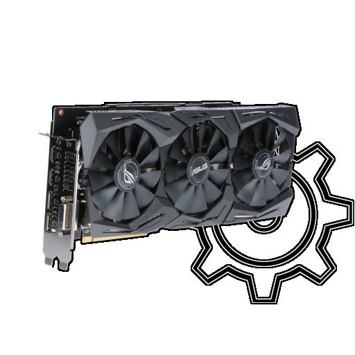 360 - 8GB Asus Radeon RX 580 ROG Strix T8G Gaming Aktiv PCIe 3.0 x16