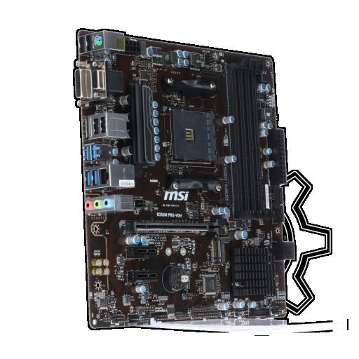 360 - MSI B350M PRO-VDH AMD B350 So.AM4 Dual Channel DDR4 mATX Retail