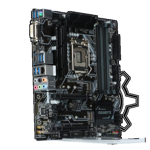 360 - Gigabyte Z370M D3H Intel Z370 So.1151 Dual Channel DDR4 mATX Retail