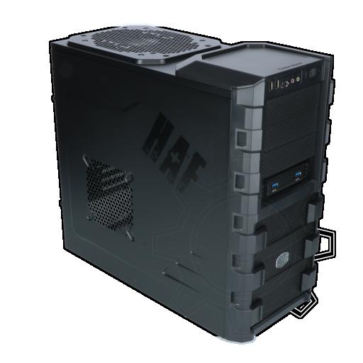 360 - Cooler Master HAF 912 Advanced Midi Tower ohne Netzteil schwarz