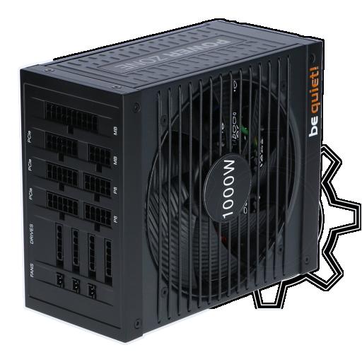 360 - 1000 Watt be quiet! Power Zone CM Modular 80+ Bronze