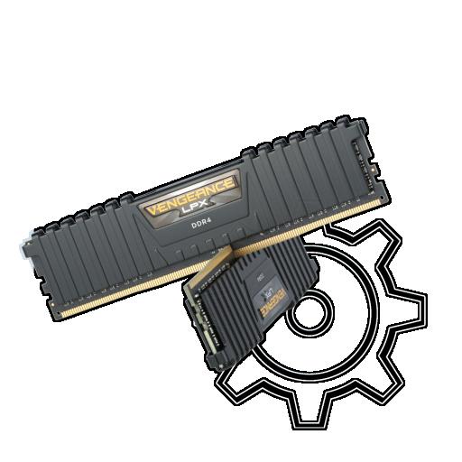 360 - 8GB Corsair Vengeance LPX schwarz DDR4-3000 DIMM CL15 Dual Kit