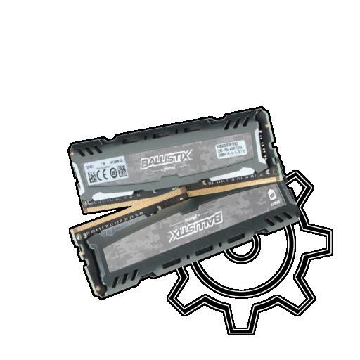 360 - 16GB Crucial Ballistix Sport LT grau DDR4-2400 DIMM CL16 Dual Kit