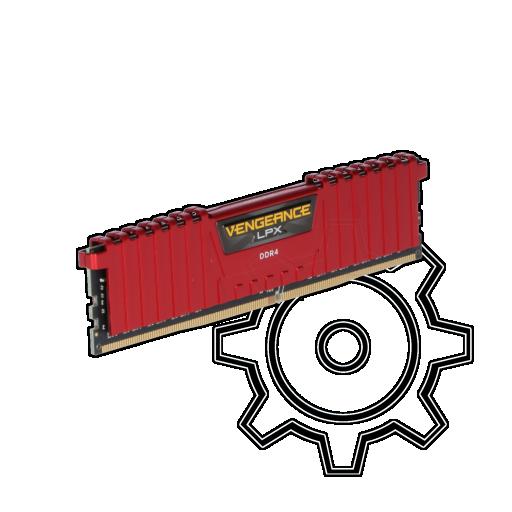 360 - 8GB Corsair Vengeance LPX rot DDR4-2666 DIMM CL16 Single