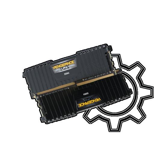 360 - 32GB Corsair Vengeance LPX schwarz DDR4-2666 DIMM CL16 Dual Kit