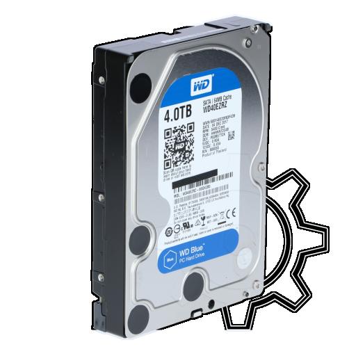 """360 - 4000GB WD Blue WD40EZRZ 64MB 3.5"""" (8.9cm) SATA 6Gb/s"""