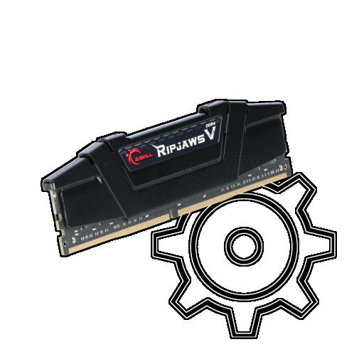 360 - 16GB G.Skill RipJaws V schwarz DDR4-3200 DIMM CL16 Single
