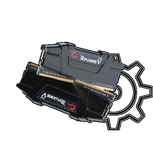 360 - 16GB G.Skill RipJaws V schwarz DDR4-3600 DIMM CL16 Dual Kit