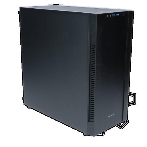 360 - Sharkoon S25-V Midi Tower ohne Netzteil schwarz
