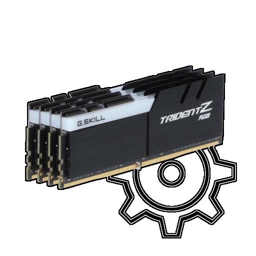 360 - 64GB G.Skill Trident Z RGB DDR4-3600 DIMM CL17 Quad Kit
