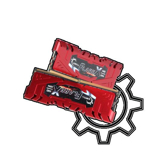 360 - 32GB G.Skill Flare X rot DDR4-2400 DIMM CL15 Dual Kit