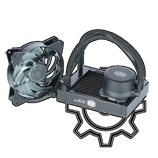 360 - Cooler Master MasterLiquid Lite 120 Komplett-Wasserkühlung