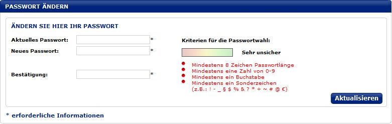 mein passwort ändern